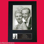 FRED ASTAIRE & GINGER ROGERS Signed Autograph Mounted Photo Repro A4 Print No599
