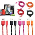 1M/2M/3M Hemp Rope Braided Micro USB Charger Data Sync Cord Cable For Cell Phone