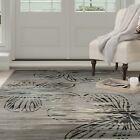 Lavish Home Opus Modern Floral Area Gray Accent Rug Carpet Sizes