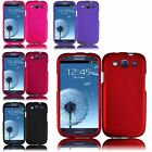 For Samsung  Galaxy S3 S III i9300 Rubberized Hard Plastic Ultra Thin Cover Case