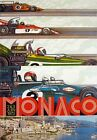 A3 Vintage High Quality Monaco Grand Prix Classic Motor Racing Retro Posters  <br/> **BUY 2 GET 1 FREE - Massive Selection - Top Quality**