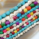 """Kyпить Howlite Turquoise Carved Skull Loose Spacer Beads 16"""" Pick на еВаy.соm"""