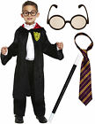Boys Girls  Harry Potter Wizard Book Week Fancy Dress Costume Glasses Wand Tie
