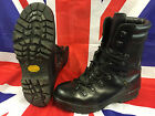British Army Extreme Cold Black Leather Gortex Combat Boots Vibram Size10M