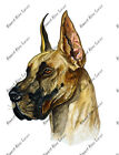 Great Dane German Mastiff Cropped Ears Portrait Auto Boat RV Vinyl Decal Sticker