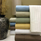 1200 Thread Count 100% Egyptian Cotton Stripe Bed Sheet Set 15 COLORS / 6 SIZES image