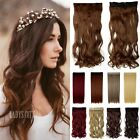 New Long Thick 5 Clip In Hair Extensions 3/4 Full Head Brown Black Curly Hair FP