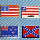 AMERICA Liberia NEW ZEALAND USA Deep South FLAG Iron On Patch Transfer  Country