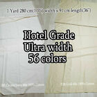 RARE SUPERIOR WIDE FABRIC BEDDING CURTAIN DRAPERY TOP HOTEL QUALITY 240-300CM W