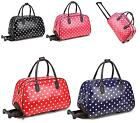 LADIES HOLDALL TROLLEY WEEKEND POLKA DOT LUGGAGE HOLIDAY TRAVEL HANDBAG