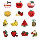 Fruits Personalized Embroidery DIY Fabric Sticker Patch Clothes Bags Ornament