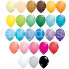 Pack of 6 Qualatex Latex Balloons Standard Fashion Colours All Sizes Helium NEW