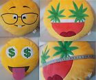 One Emoji Soft  Home Car 36cm Pillow Cushion Weed Ganja Leaf Nerd Money Eye