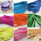 """6"""", 8"""" & 10"""" No3 nlyon autolock zips x 10 for crafts & sewing - colour choice"""