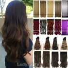 """17""""-30"""" Long New Women Hair Extensions Wavy Curly/Straight Synthetic Clip On FTT"""
