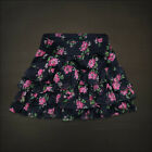 Hollister Womens Navy Blue Floral Tiered Ruffle Mini Skirt
