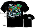 Butt Racing T-shirt Kustom Kulture Apparel, Monster Rod Tee, Sz M L XL 2XL 3XL