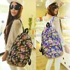 Women Rucksack Backpack Floral Bag Canvas School Bookbags Shoulder Handbag
