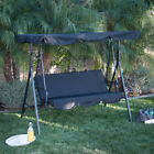 3 Person Patio Swing Outdoor Canopy Awning Yard Furniture Hammock Adjustable