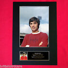 GEORGE BEST Signed Autograph Mounted Photo RE-PRINT A4 140