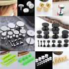 Pair 2-14mm Mens Stainless steel Button Screw Fake Cheater Ear Stud Earring 18Ga