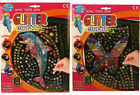 A to Z Glitter Mosaic Childrens Kids Fun Art Craft Sets Butterfly or Dolphin