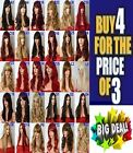 Women Long Hair Full Wig Curly Wavy Straight Synthetic Party Sexy Wigs look Real