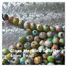 Glass Marbled Splatter Bead 4mm Pastel Beads Spacer Jewelry Beads 100 or 200