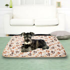 Pet Small Large Warm Paw Print Dog Cat Puppy Soft Blanket Beds Mat 3 Colors New
