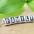 Solid Silver Alphabet Letter Triangle European Big Hole Beads Charm Fit Bracelet