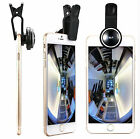 3in1 Fisheye + Wide Angle + Macro Lens Camera Kit for iPHONE Android Smartphone