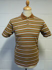 SALE! NEW RETRO INDIE STRIPE SHORT SLEEVE POLO SHIRT (BROWN) h164
