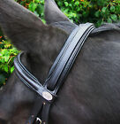 """SALE! FSS Comfort Soft Padded German Leather Straight Round Raised Browband 5/8"""""""