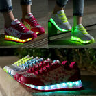 Womens Fashion LED Light Lace Up Shoes 7 Light Colors In 1 Luminous Sneakers New