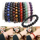 Womens Mens Stretchy Semi-Precious Gems Beads Healing Power Crystal Bracelet