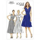 Vogue Ladies Easy Sewing Pattern 8577 Tea Dress with Pockets (Vogue-8577-M)