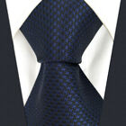 Y25 Solid Color Blue Navy Crimson Mens Ties Extra Long Size Silk Design Wedding