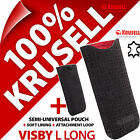 New Krusell Visby GENUINE LEATHER L Long Mobile Pouch Case Cover Sleeve Slim