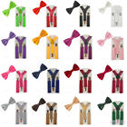 red bow tie for toddler - Suspenders Bowtie Bow Tie Matching Colors For Kid Toddler Boy Children BHHtr0003