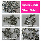 Spacer Beads Butterfly Tube Bow Silver Plated Craft Bead Art Supply