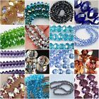 Wholesale New Multicolors Faceted Crystal Gemstone Loose Beads 4x6mm 6x8mm