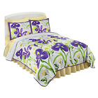 Collections Etc Full Bloom Reversible Floral Quilt