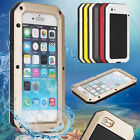 Waterproof Metal Gorilla Glass Cover Case for Samaung S4 S5 S6 edge Note3 Note4