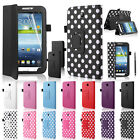 "Leather Case Cover Stand For Samsung Galaxy Tab3 P3200 P3210 7"" Screen Protector"
