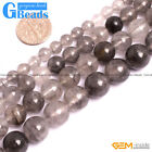 "Natural Gray Grey Cloudy Quartz Gemstone Round Beads Free Shipping 15"" 6-12mm"