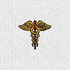 Medical Caduceus embroidered on medium Polo Shirt