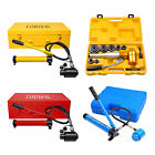 6/9/15 Ton Hydraulic Knockout Punch Driver Kit Hand Pump Hole Case Tool 11-gauge