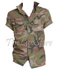 Ralph Lauren Denim & Supply Mens Camo Camouflage Army Short Sleeve Slim Shirt