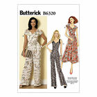 Butterick 6320 Easy Sewing Pattern to MAKE Misses' Dress & Jumpsuit in Cup Sizes