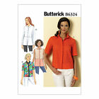 Butterick 6324 Sewing Pattern to MAKE Loose-Fitting Shirt/Blouse w/ Collar